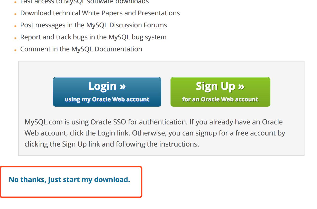 如果你没有账号也不想注册请选择:No thanks, just start my download