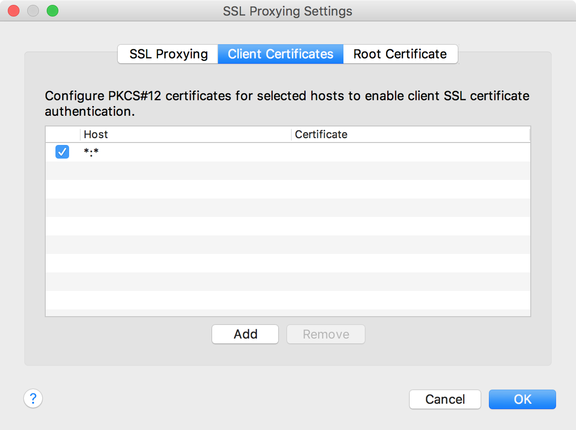 SSL Proxying Settings SSL端口号设置