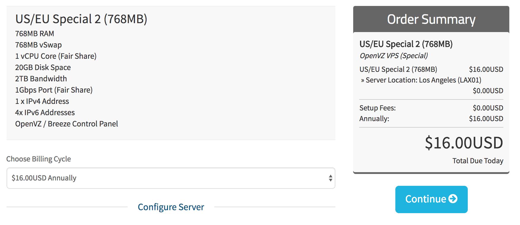 HostUS.us美国VPS年付16美元-亚洲线路优化版20美元一年-768MB OpenVZ