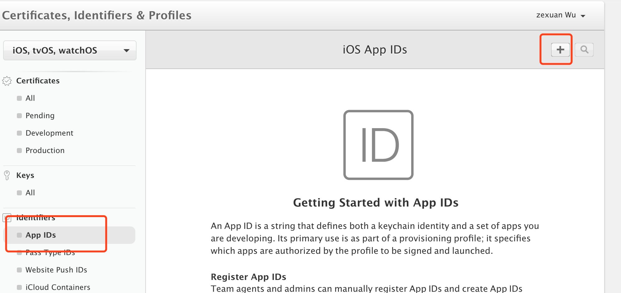 20180503最新iOS开发过程中developer.apple.com中测试证书的生成-(二)Identifiers填写-绑定Bundle Identifier