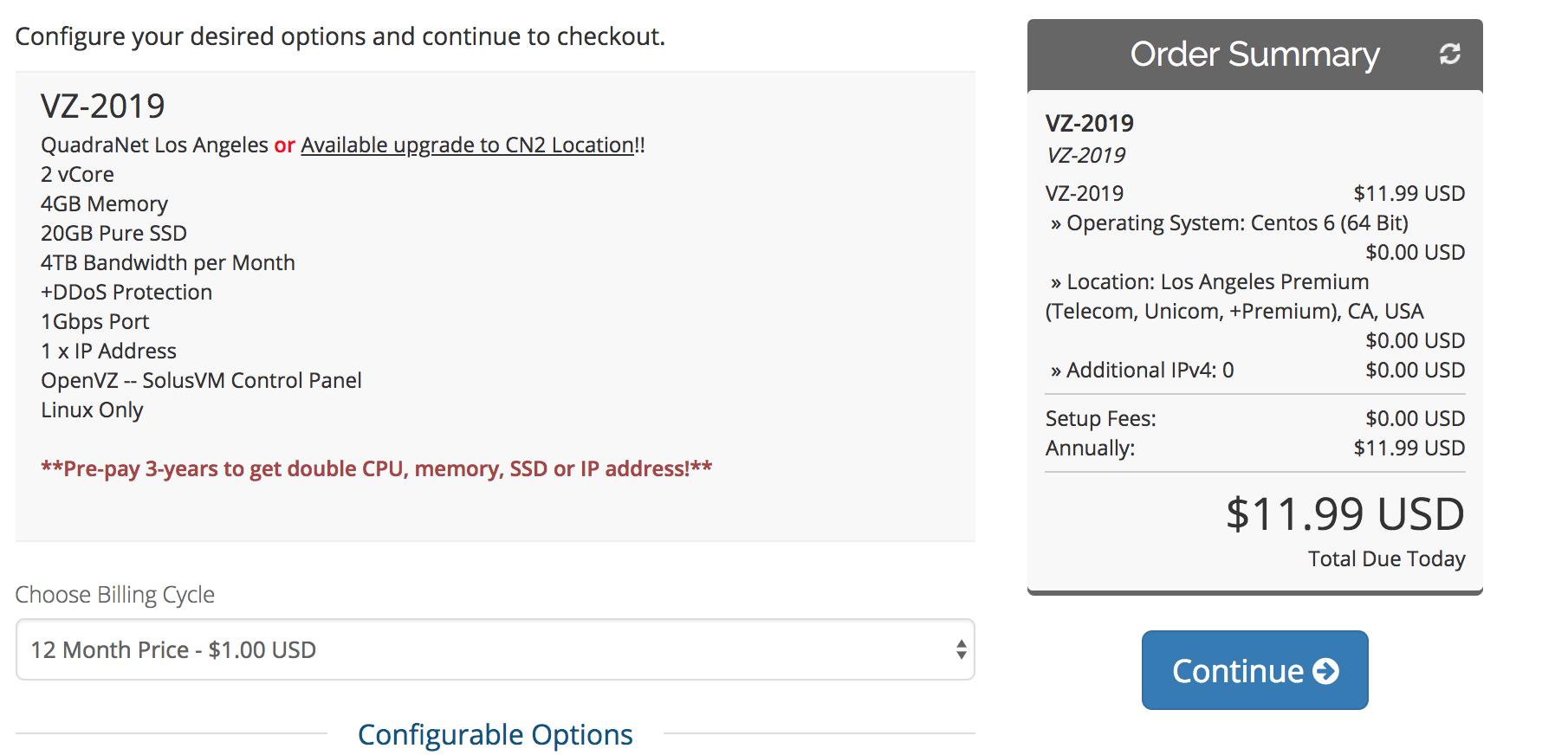 便宜VPS #HiFormance便宜VPS OpenVZ 虚拟化- 亚洲优化 洛杉矶 QuadraNet机房-4GB内存-20GB SSD 年付11.99美元
