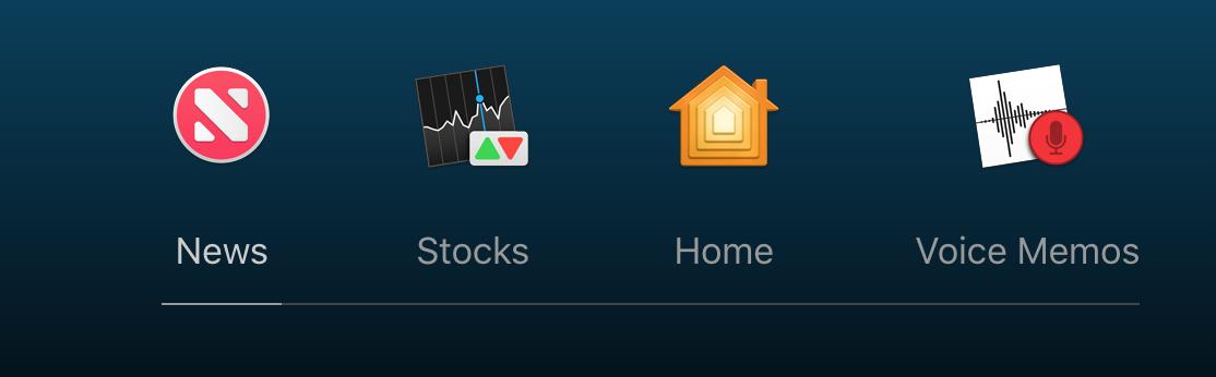 新增加了4应用程序:新闻App,股票App,Home App,以及语音版本的备忘录!