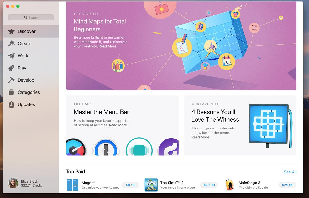 重新设计了AppStore