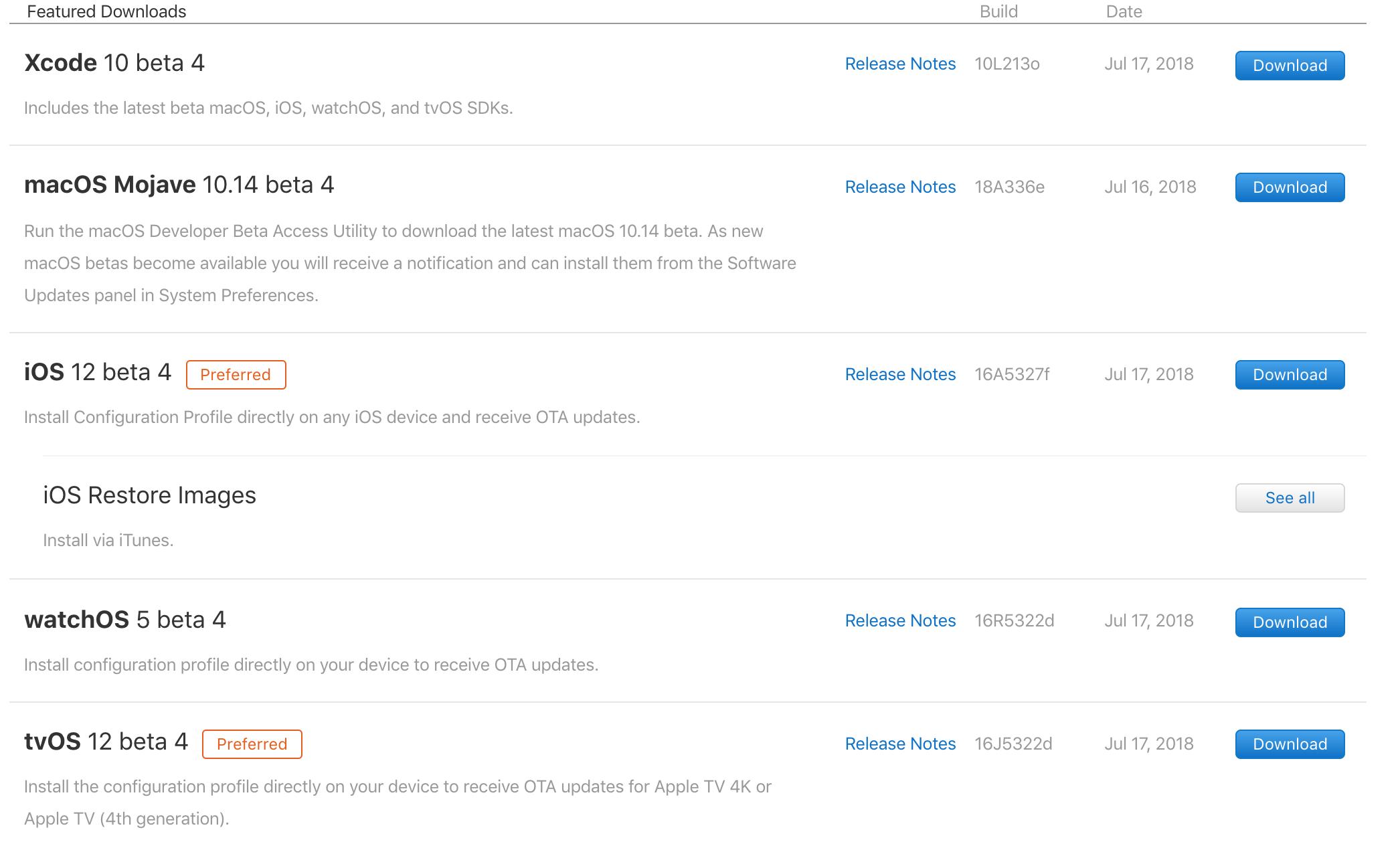 关于如何安装最新版-iOS 12 beta 4、Xcode 10 beta 4、macOS Mojave 10.14 beta 4、watchOS 5 beta 4、tvOS 12 beta 4 的方法!
