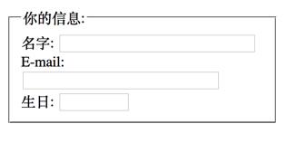 HTML<fieldset>标签