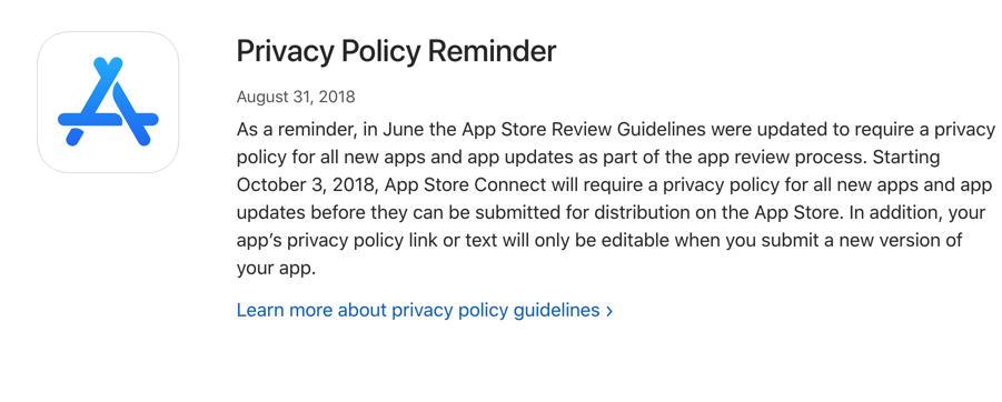 5.1.1 数据收集和存储-苹果隐私条款相关-隐私权政策范本提供