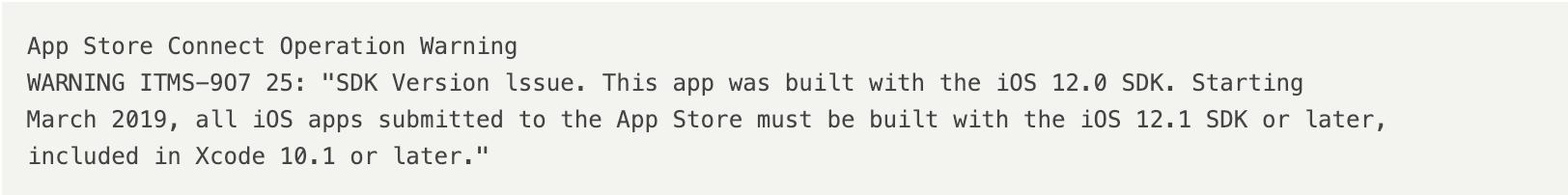 App打包上架过程中出现App Store Connect Operation Warning,问题的解决方法