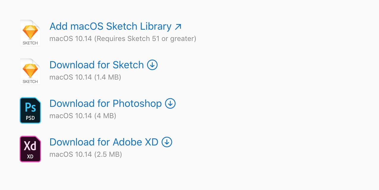 macOS UI Apple官方设计资源下载