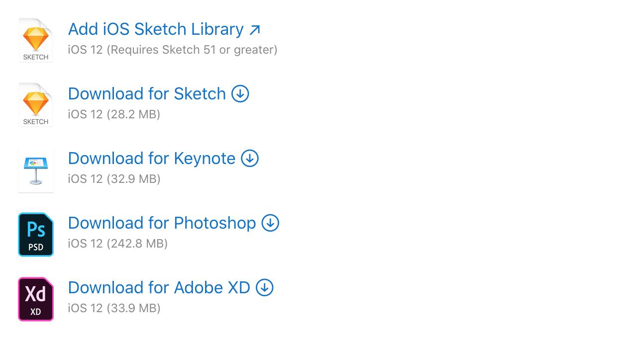 iOS UI Apple官方设计资源下载