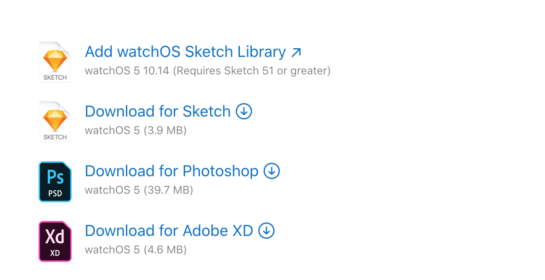 watchOS UI Apple官方设计资源下载