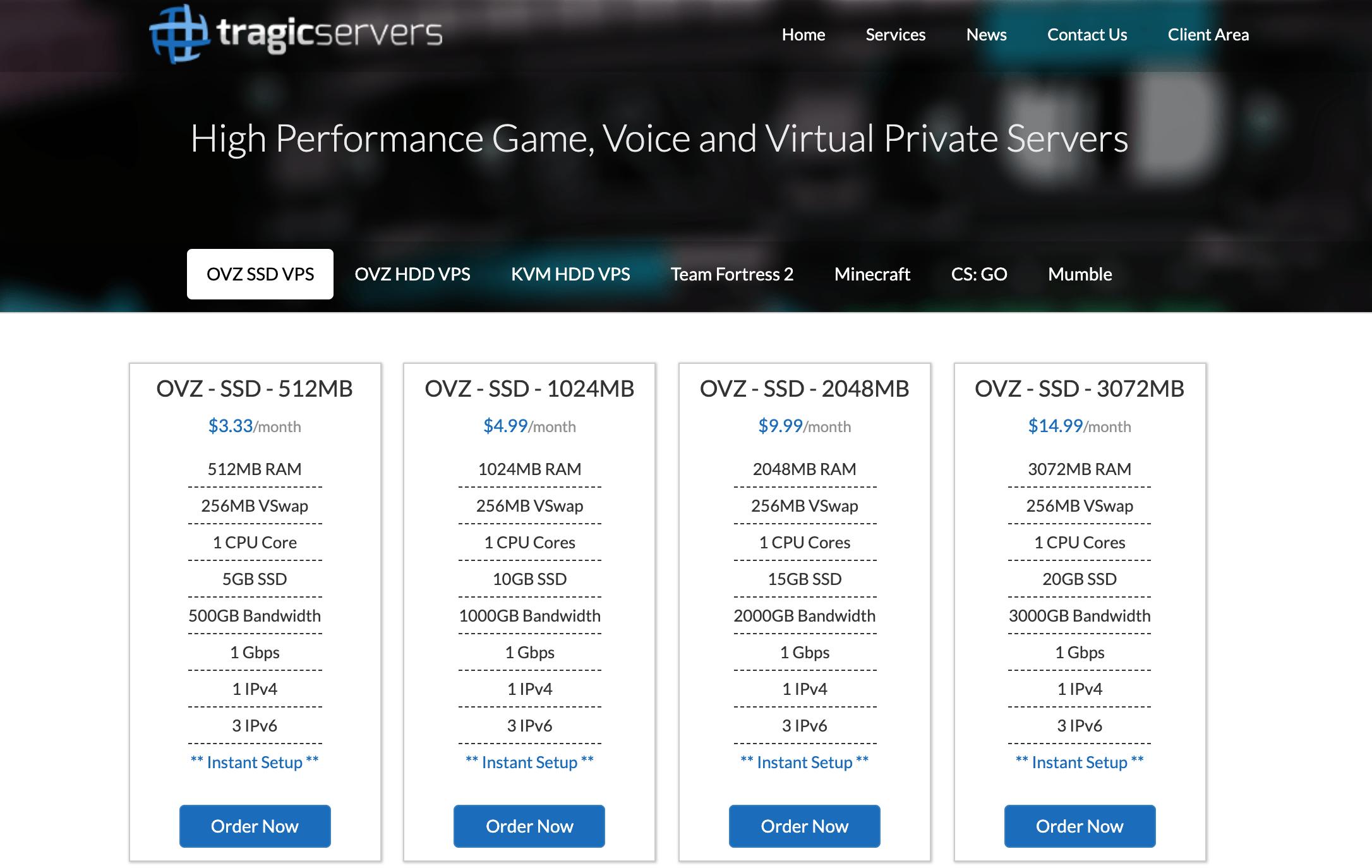 TragicServers 年付14美元洛杉矶OpenVZ VPS,512MB内存,20GB存储,支持IPv6,TragicServers优惠码