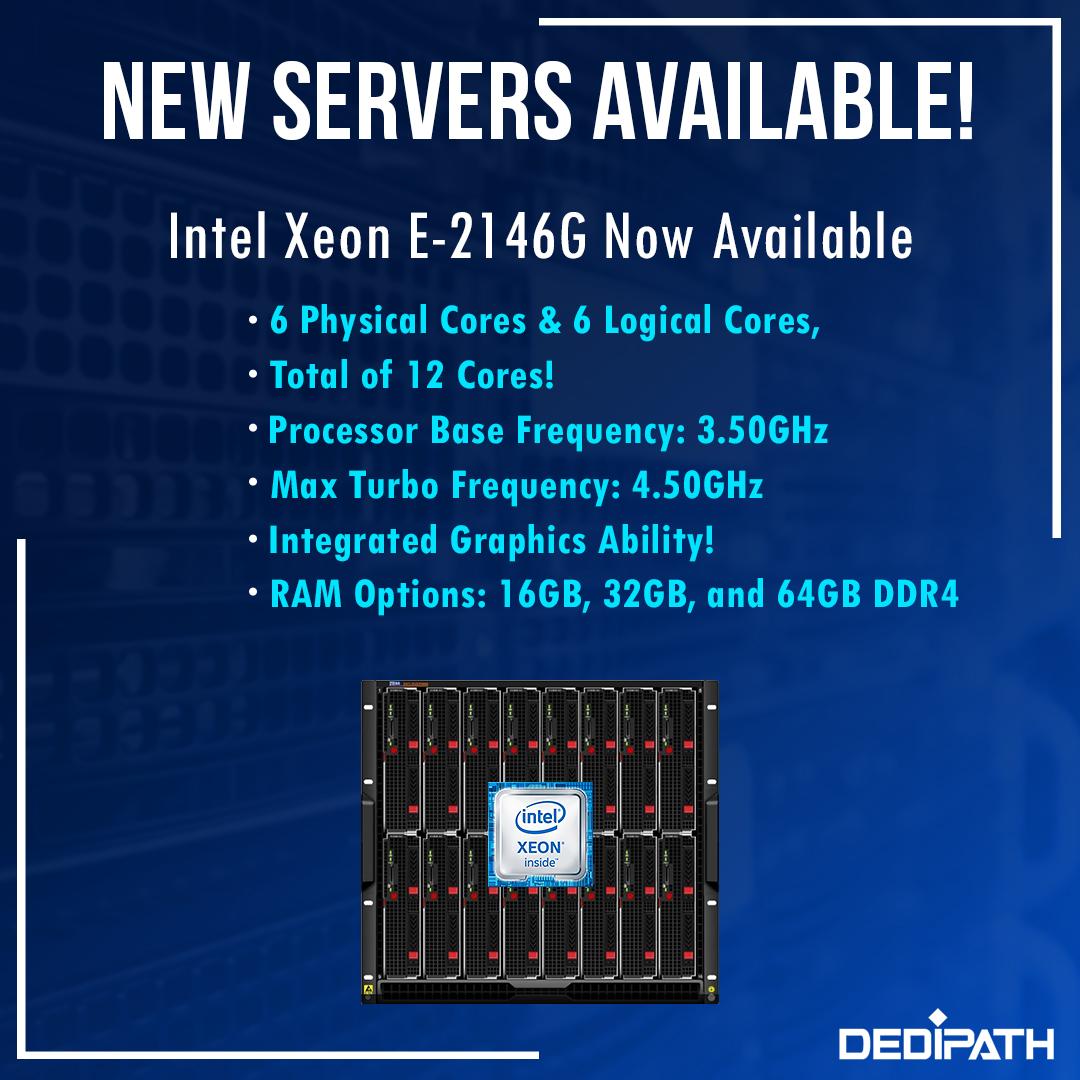 DediPath最新独服优惠信息,DediPath主要经营独立服务器和美国vps业务,当前在洛杉矶推出了Intel Xeon E-2146G!