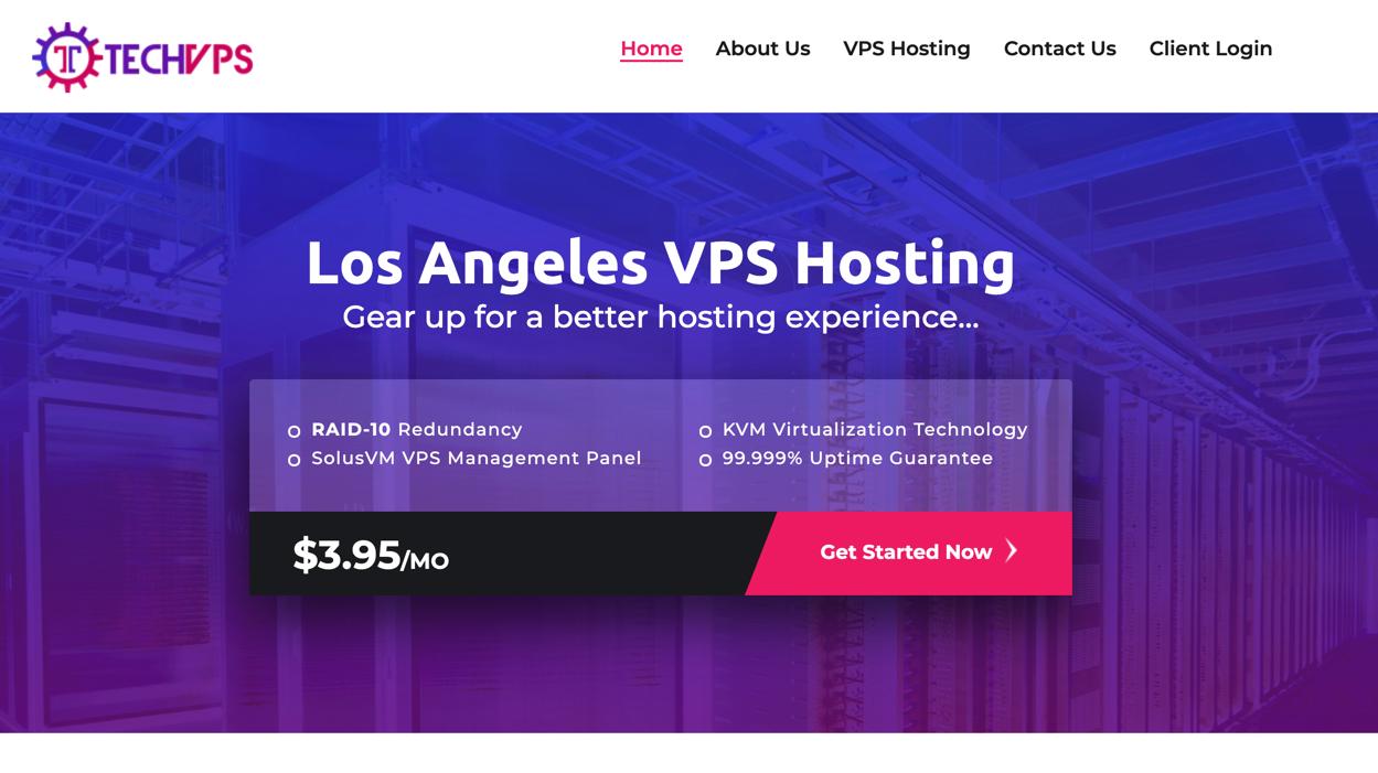 TechVPS – 512MB KVM VPS 年付14美元洛杉矶VPS,1GB KVM VPS 年付18美元洛杉矶VPS,TechVPS最新优惠信息