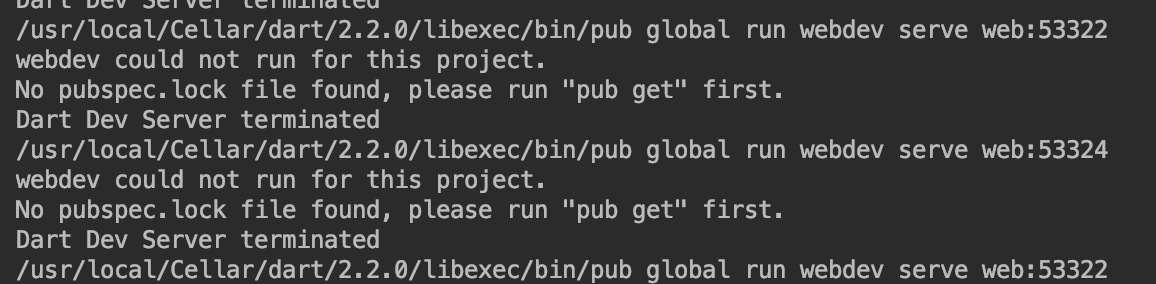 "WebStorm新建Dart项目之后无法运行,No pubspec.lock file found, please run ""pub get"" first. 解决方法"