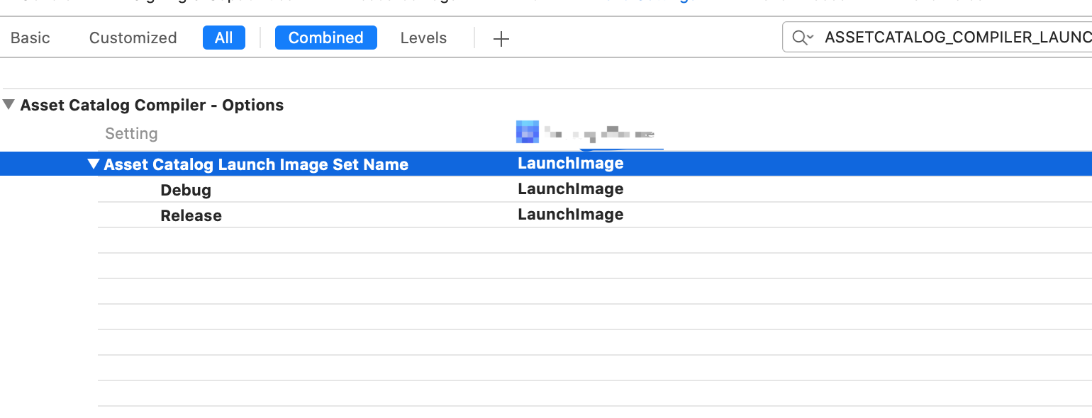 "None of the input catalogs contained a matching launch image set named  ""LaunchImage""."