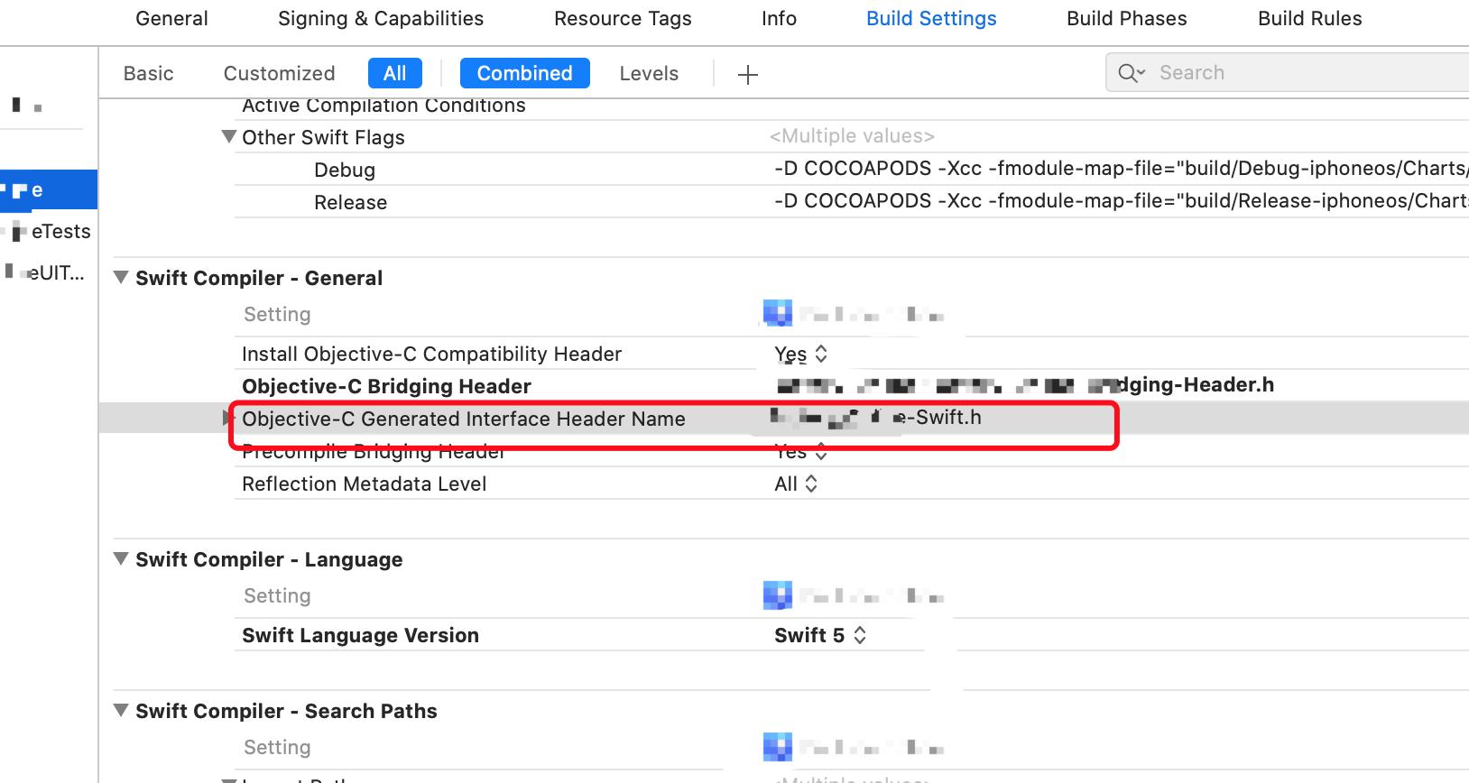 Object-C和Swift混编项目情况下,修改Display Name之后 XXX-Swift.h File not found 问题