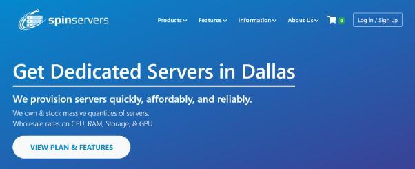 Spin servers - 圣何塞不限流量独立服务器/线路优化!