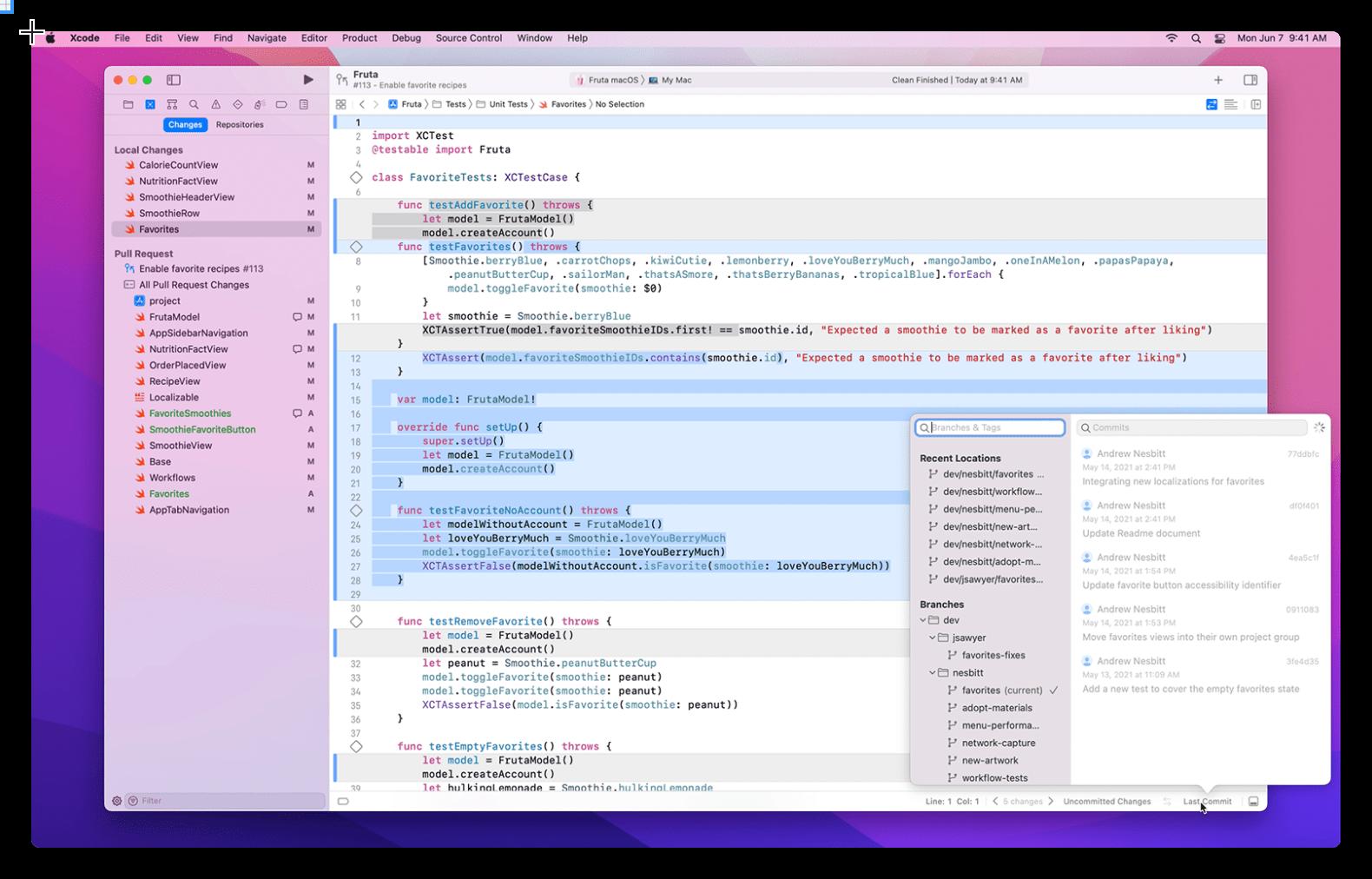 Apple更新:Xcode 13 ,支持GitHub、Bitbucket 和 GitLab等协作方式,如代码审查