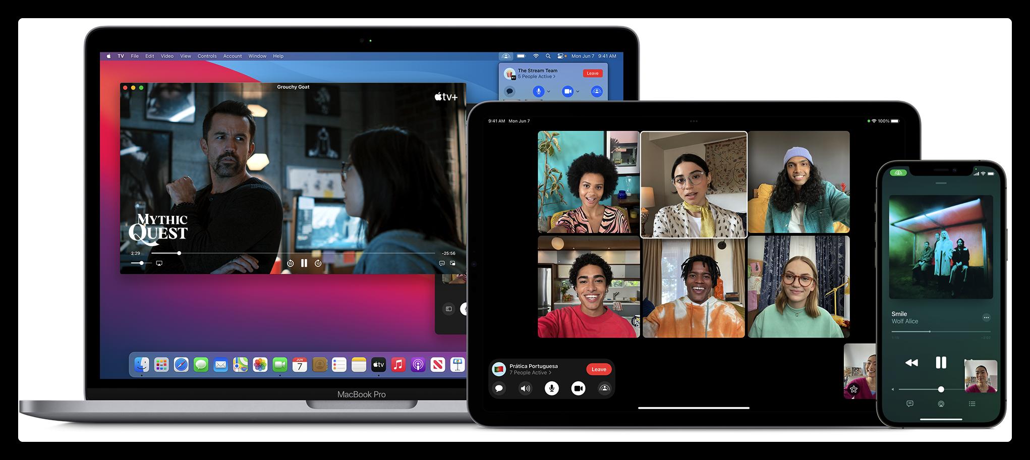 Apple更新:接入SharePlay 在FaceTime通话时共享此应用,如一起视频且观看电影?